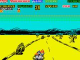 Super Hang-On ZX Spectrum Dust from wheels
