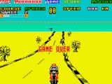Super Hang-On ZX Spectrum Game Over