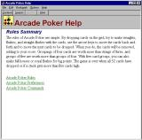 Arcade Poker Windows There is a detailed help file. It opens in a new window