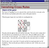 Vanishing Cross Windows There is a more detailed help file available to the player.