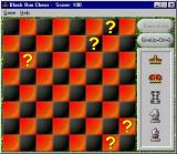 Black Box Chess Windows The start of a game. The player's score starts at 100 and counts down for every cell they examine