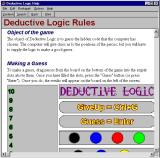 Deductive Logic Windows A detailed help file is available. It opens in a new window and can be accessed via the menu bar.