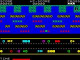 Froggy ZX Spectrum Use the logs and animal to traverse the fast moving river.