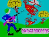 Paratroopers ZX Spectrum Title Screen