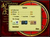 The Emperor's Mahjong Windows Various options that you can choose include tilesets and music