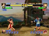The King of Fighters: Evolution Dreamcast Look, new backgrounds with 3D elements.