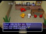 Chocobo's Dungeon 2 PlayStation Inside the Mrs. Bomb house, Chocobo has a job to do.