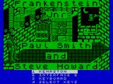 Frankenstein Jnr. ZX Spectrum Title screen