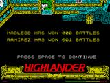 Highlander ZX Spectrum MacLeod vs Raminez 0:1