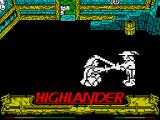 Highlander ZX Spectrum Blade in stomach is quite painful