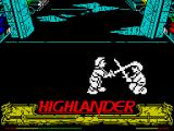 Highlander ZX Spectrum Sword in head