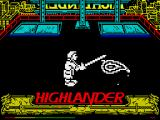 Highlander ZX Spectrum Your soul is mine!