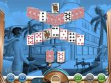Hoyle South Beach Solitaire Windows This is the first game in the story, it's a simple 'Pick Two' solitaire game played out against a background of the level's starting picture