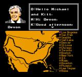 Knight Rider NES Devon's Briefing in Mission Mode
