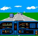 Knight Rider NES Driving down the roadway, avoiding traffic