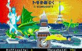 Maniax Atari ST Title screen and options