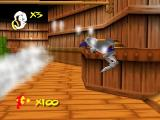 Earthworm Jim 3D Nintendo 64 Flying and avoiding rocket in same time is hard.