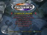 Mat Hoffman's Pro BMX PlayStation Main menu