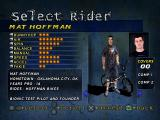 Mat Hoffman's Pro BMX PlayStation Select your rider