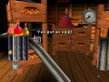 Chicken Run PlayStation Look, one of the mini games: The bounty eggs-press.