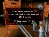 Chicken Run PlayStation A gold medal is awarded for catching 12 eggs.