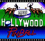Hollywood Pinball Game Boy Color Title screen