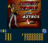 Hollywood Pinball Game Boy Color Ancient Temple of the Aztecs