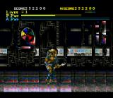 Alien Vs. Predator SNES The character sprite changes depending on the currently selected weapon - in this case, the spear.