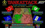 Tank Attack Atari ST Menu / choosing enemies