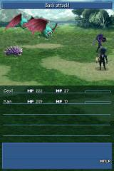 Final Fantasy IV Nintendo DS A fight with some wildlife
