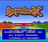 Equinox SNES Title Screen