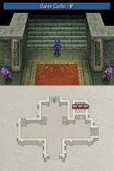 Final Fantasy IV Nintendo DS Strolling around the castle. That map on the touch screen is handy