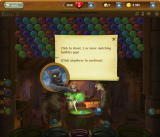 Bubble Witch Saga Browser Morris gives you instructions.
