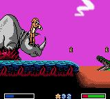 Disney's the Lion King: Simba's Mighty Adventure Game Boy Color Rhino