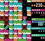 Mr. Driller Game Boy Color Straight-down road