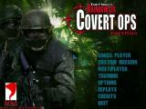 Tom Clancy's Rainbow Six: Covert Ops Essentials Windows The game's main menu from disc 1, the training disc.