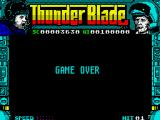ThunderBlade ZX Spectrum Game Over