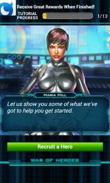 Marvel: War of Heroes Android It starts with a tutorial