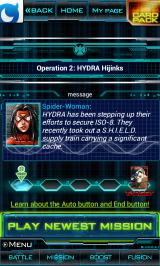 Marvel: War of Heroes Android Mission menu