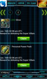 Marvel: War of Heroes Android Rewards have to be claimed before they can be used