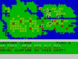 Falklands 82 ZX Spectrum Naval gunfire + airstrike -> even infantry can destroy tanks