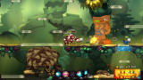 Awesomenauts Windows Attacking a turret with my tank character.