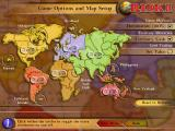 Risk II Windows Game Options and Map Setup.