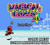 Magical Chase Game Boy Color Title screen