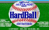 HardBall! Amiga Title screen