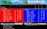 HardBall! Amiga The player lineup