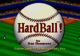 HardBall! Genesis Title screen
