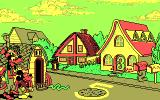 Mickey's Runaway Zoo DOS An impressive example of how a bit of dithering creates the illusion of at least six colors in CGA.