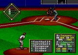 HardBall! Genesis The pitching and batting screen