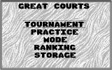 Jimmy Connors Pro Tennis Tour Atari ST Menu (Monochrome)